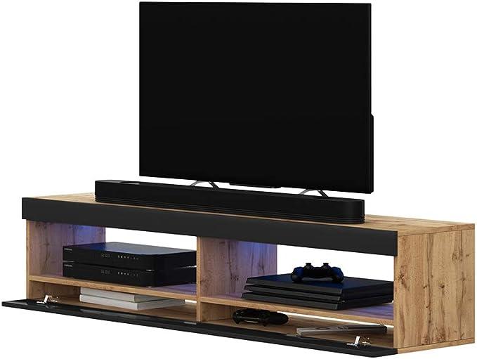 Selsey Mueble para Televisor Roble Mate y Acabado Brillante, 100 x 40 x 40 cm: Amazon.es: Hogar