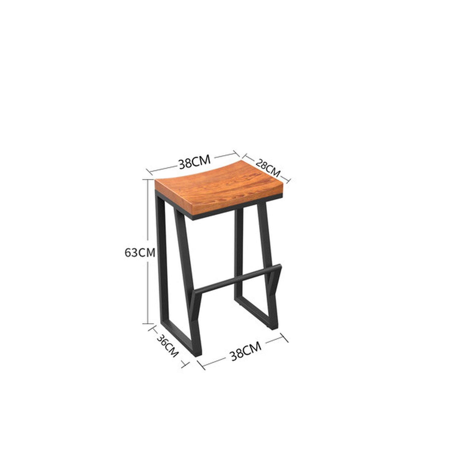 Style 1 tthappy76 10% Retro Bar Chair Wrought Iron Bar Stool Solid Wood Bar Stool Creative High Stool Leisure Bar Chair Front Coffee Chair,Style 3