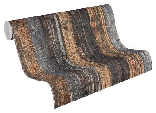 AS-Creation-908612-Wood-n-Stone-Papel-pintado-estampado-imitacin-madera-color-beige-marrn-y-gris