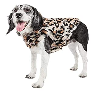 Pet Life ® Luxe 'Lab-Pard' Dazzling Leopard Patterned Mink Fur Dog Coat Jacket, Small, Brown Click on image for further info.