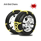 8milelake 6pcs/set Snow Chains of Emergency Thickening Car Tire Snow Chains Adjustable Anti-Skid Chains for Most Car/SUV/Truck( Width 165mm-265mm)