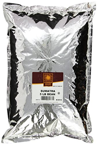 Copper Moon Sumatra Dark Coffee, Whole Bean, 5-Pound Bag