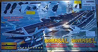 Universal U.S. Aircraft Carrier with Realistic Fighters, 3 Feet Long