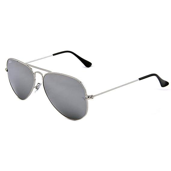 ray ban sunglasses aviator 3025 w3277 silver grey mirror