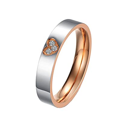 Am /_ Einfach Titan Stahl Ring Ehering Frauen Männer Paar Schmuck Geschenk Größe