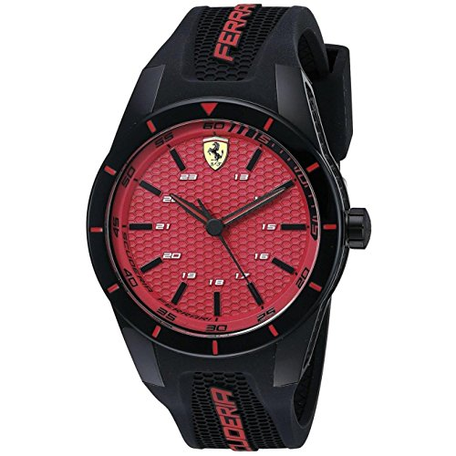 Ferrari Men's 0830248 REDREV Analog Display Japanese Quartz Black Watch