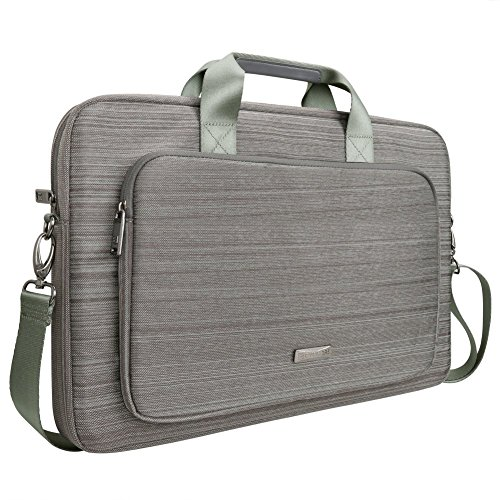 Price comparison product image Evecase Classic Padded Briefcase Messenger Bag with Shoulder Strap and Handle for MSI GP70/ GE70 Series 17.3-Inch Laptop - Gray