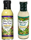 Walden Farms Calorie Free Dressing, Honey Dijon 12 oz & Ranch Dressing 12 oz (Pack of 2)