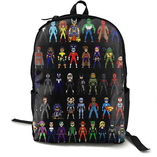 - Batman_Superman_Deadpool_Spider_Man_Wolverine_Harley_Quinn_Darth_Maul_Green_Lantern Classic Backpack Book-Bag Laptop Bag School Bag