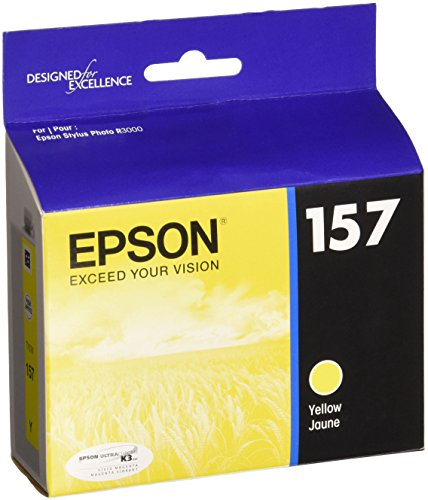 Epson UltraChrome K3 157 Inkjet Cartridge (Yellow) (T157420)