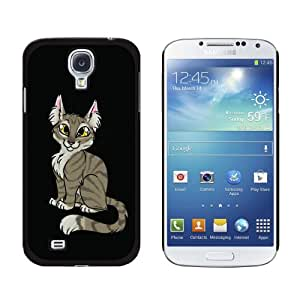 Graphics and More Snap-On Hard Protective Case for Samsung Galaxy S4 - Tabby Cat Brown - Non-Retail Packaging - Black