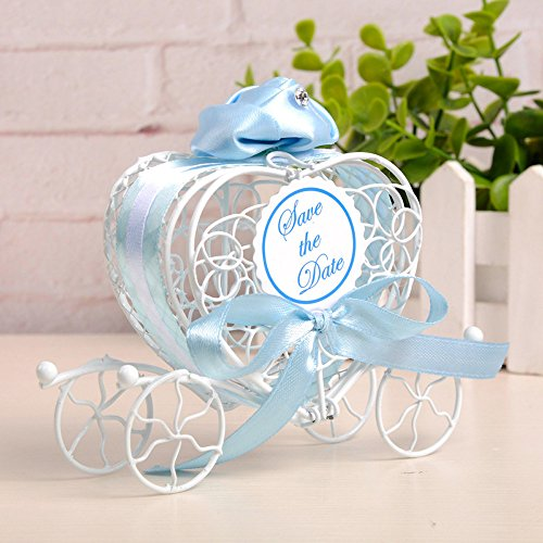 Discount Winter Wedding Favors - 1pc Candy Boxes Romantic Carriage Sweets Chocolate Box Wedding Party Favors