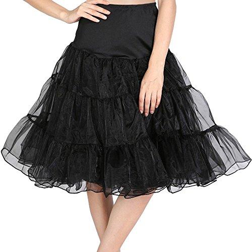 DaisyFormals 50s Vintage Rockabilly Petticoat Skirt 13 Colors,26