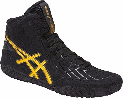 ASICS Men's Aggressor 3 Wrestling-Shoes, Black/Rich Gold, 11 Medium US