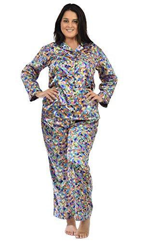 Satin Pajama Sets Women in Variety Prints (L, Picasso -