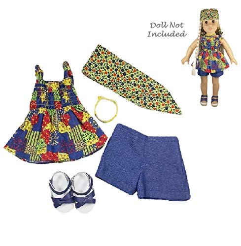 American Girl Julie - Julie's Patchwork Outfit (Doll Girl Julie Clothes American)
