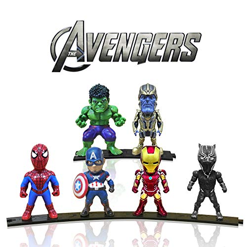 Action Figures, Anime Figures, Mini Action Figures for Boys, 6 Pack Hero Series Set Figures with Bases, PVC Figure Doll with 6 Popular Classic Characters Figures Ages 3 and ()