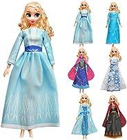 KYToy 6PCS Doll Dresses for Frozen Snow Princess Dolls