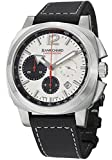 Jean Richard Men's Chronoscope Chronograph Silver Dial SS Case Black Leather