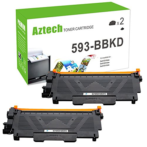 Aztech 2 Pack High Yield Compatible P7RMX 593-BBKD Toner Cartridge Replacement for Dell E310dw E514dw E515dw E515dn Toner Printer - 2,600 pages for sale