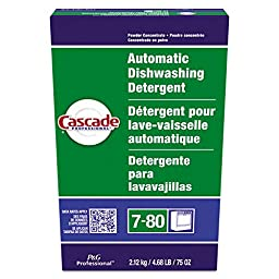 Cascade PGC 59535 Automatic Dishwasher Powder, Fresh Scent, 75 oz. Box (Pack of 7)