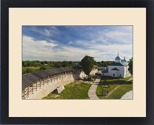 Framed Print of Russia, Pskovskaya Oblast, Stary Izborsk, ruins of the oldest stone fortress in by Fine Art Storehouse