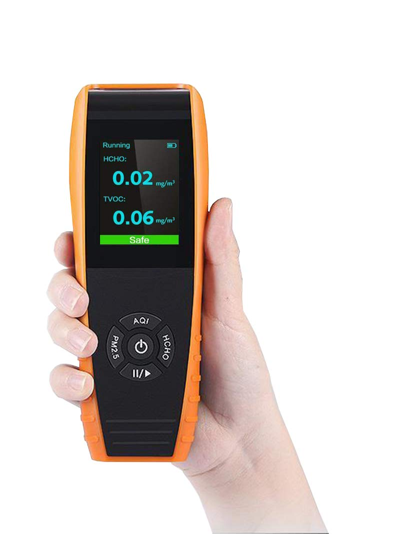 Lkc-1000s D/étecteur de qualit/é de lair Int/érieur professionnel Temp/érature et humidit/é moniteur pr/écise les tests Formaldebyde avec Pm2.5//PM10//Hcho//Aqi//particules