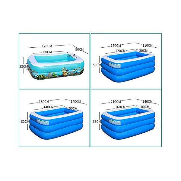 Bettying Piscina gonfiabile per bambini adulto, per esterni, giardino, cortile, estate, acqua, 1,2 m 3 Schichten 2 spesavip