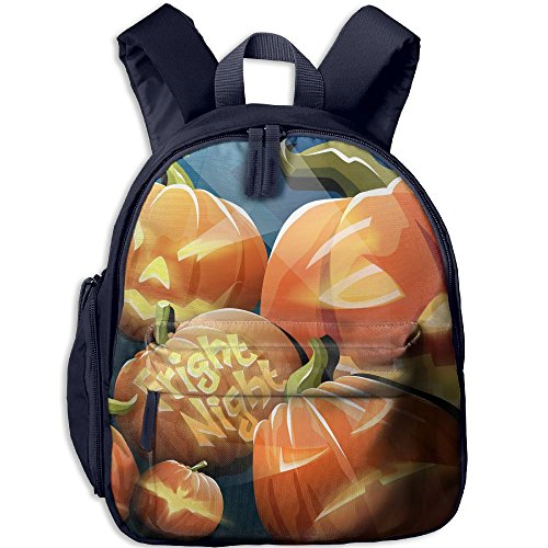 Baby Boys Girls Toddler Halloween Widescreen Crazy Pumpkins Pre School Backpack Lunch Bag -