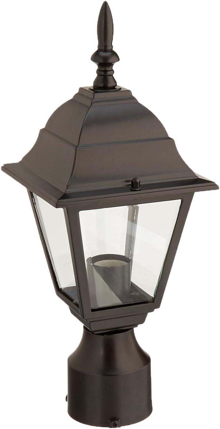 Acclaim 4007BK Builder s Choice Collection 1-Light Post Mount Outdoor Fixture, Matte Black