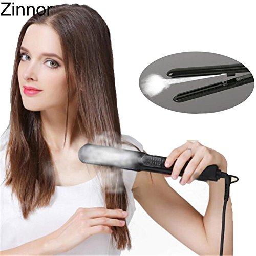 Vapor Kettle - Zinnor Professional Steam Hair Straightener Vapor Straightening Irons Ceramic Flat Iron Temperature Control Fast Heating Hair For Dry & Wet Hair