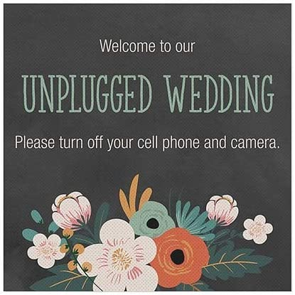 16x16 Square Perforated Window Decal CGSignLab Unplugged Wedding