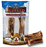 Loving Pets Pure Buffalo 7 to 9-Inch Meaty Femur Bone Dog Treat, 2-Pack, My Pet Supplies