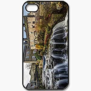 Protective Case Back Cover For iPhone 4 4S Case Hawes North Yorkshire England Yorkshire England River Black