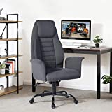 HOMY CASA Soft Fabric Executive Home Office Chair, Adjustable and Swivel Computer Chair