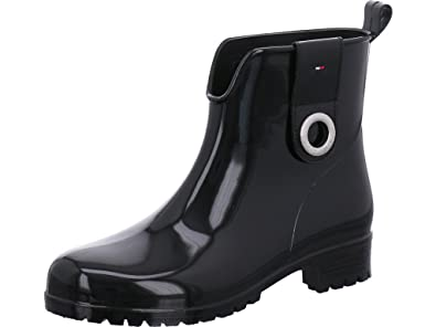 884a377e8 Tommy Hilfiger Women s Rubber Boots Black Size  8 UK  Amazon.co.uk ...