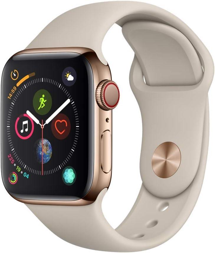 Apple Watch Series 4 (GPS + Cellular) Boîtier Acier 40 mm Bracelet Sport