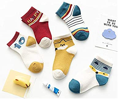 10 Pairs 12-36 Months Baby Boy Girl Cotton Socks Fun Soft Breathable Comfortable Socks Toddler Novelty Cartoon Ankle Socks