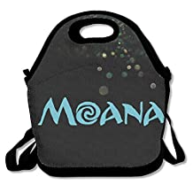 Bakeiy Moana Letter Lunch Tote Bag Lunch Box Neoprene Tote For Kids And Adults For Travel And Picnic School