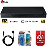 LG UBK80 4k Ultra-HD Blu-Ray Player w/ HDR Compatibility + LCD Screen Cleaner