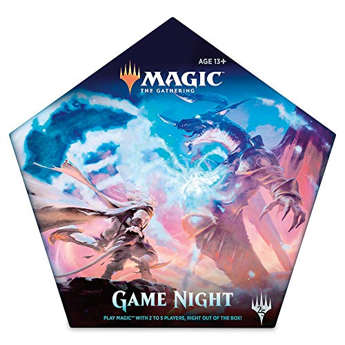 Magic: The Gathering Magic Game Night | Card Game for 2-5 Players | 5 Decks | 5 Dice | Accessories (Best Three Player Card Games)