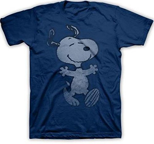 Men's Peanuts Snoopy Hug Men's Navy T-shirt. S to XXL