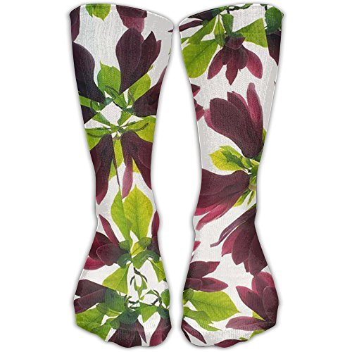 Jahopa Women's Outdoor Winter Long 11.8 Inch Compression Socks The Kaleidoscope Of The Orchid Full Padded Hosiery Best For Running, Hiking, Sports, Cross Fitness, Flying Travel