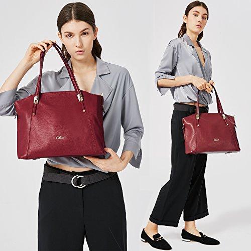Señora Rosa Mujer Bolso De Chica A Granate Moda Universidad Para Cuero Diseñador Tipo Maletín Cluci La Casual qZxOwq