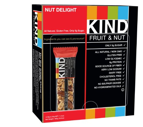 KIND Bars, Nut Delight, Gluten Free, 1.4 Ounce Bars, 12 Count