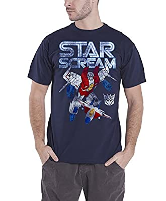 Transformers T Shirt Starscream Distressed Official Mens Blue