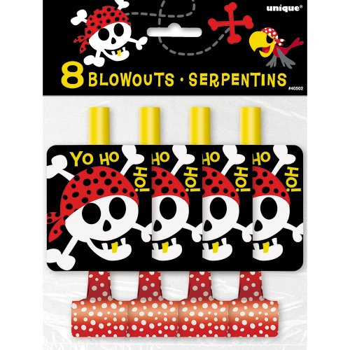 Pirate Party Blowers, 8ct (Halloween Costume Party Ideas)