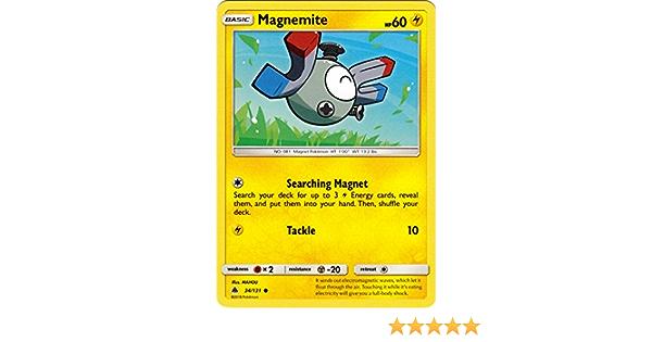 34//131 Common NM-Mint Pokemon SM06 4x Magnemite Forbidden Light
