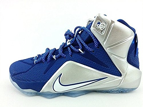 Nike Lebron Xii Sz 9 684593-410 Tänk Om Cowboys Duke Wtl Mvp Kork Denim Palmer (10)