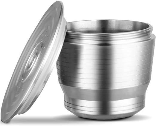 cuchara para Xiaomi Filtro de caf/é reutilizable compatible de la vaina del caf/é de la c/ápsula del caf/é del acero inoxidable recargable con el cepillo